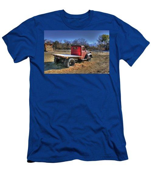 Dodge Flat Bed Truck On Farm Men's T-Shirt (Athletic Fit)