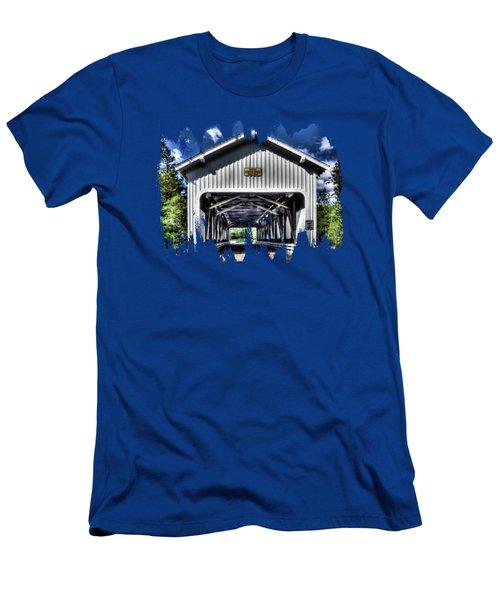 Dorena Covered Bridge 1949 Men's T-Shirt (Athletic Fit)