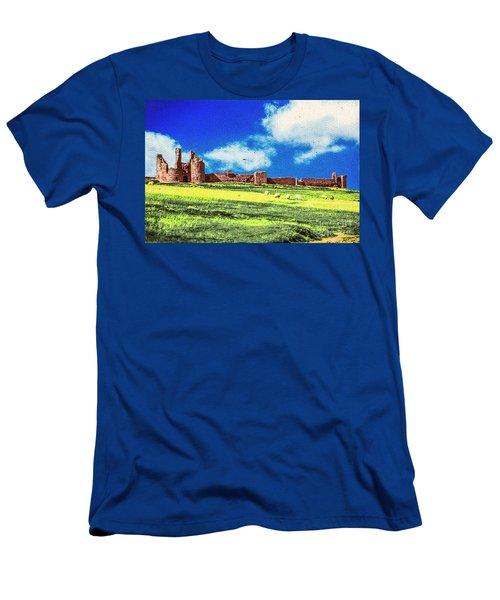 Dunstanburgh Castle In Oil Men's T-Shirt (Athletic Fit)