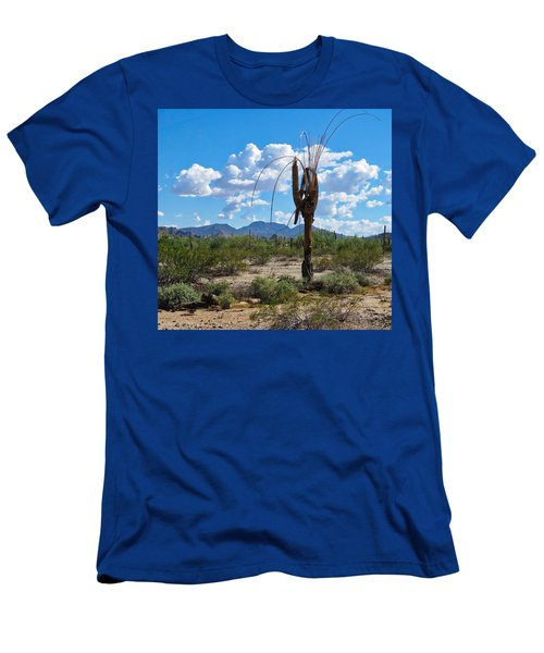 Men's T-Shirt (Athletic Fit) featuring the photograph Dying Saguaro In The Desert by Judy Kennedy