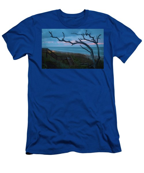 Emerald Isle Obx - Blue Hour - North Carolina Summer Beach Men's T-Shirt (Athletic Fit)