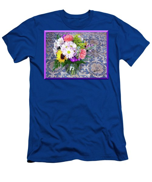 Flower Bouquet  Men's T-Shirt (Athletic Fit)