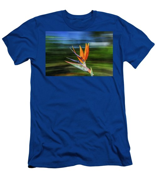 Flying Bird Of Paradise Men's T-Shirt (Athletic Fit)