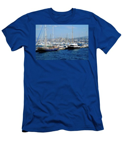 Men's T-Shirt (Athletic Fit) featuring the photograph Frioul Marina by August Timmermans