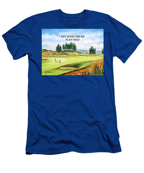 Gleneagles Kings Golf Course With Eat Sleep Dream Play Golf Men's T-Shirt (Athletic Fit)