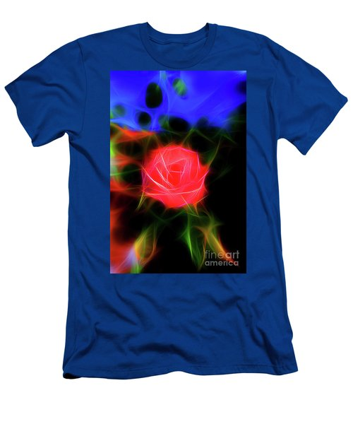 Glowing Rose In The Garden Men's T-Shirt (Athletic Fit)