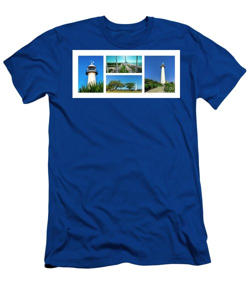 Grand Old Lighthouse Biloxi Ms Collage A1a Men's T-Shirt (Athletic Fit)