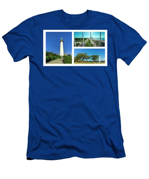 Grand Old Lighthouse Biloxi Ms Collage A1d Men's T-Shirt (Athletic Fit)