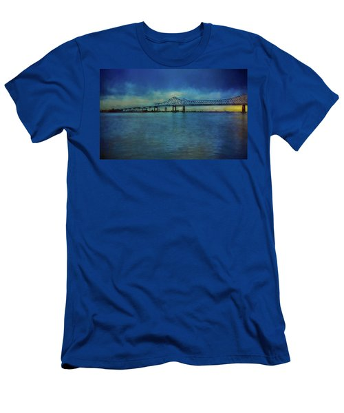 Greater New Orleans Bridge Men's T-Shirt (Athletic Fit)