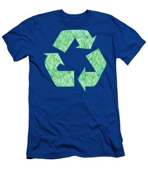 Green Foliage Pattern Men's T-Shirt (Athletic Fit)
