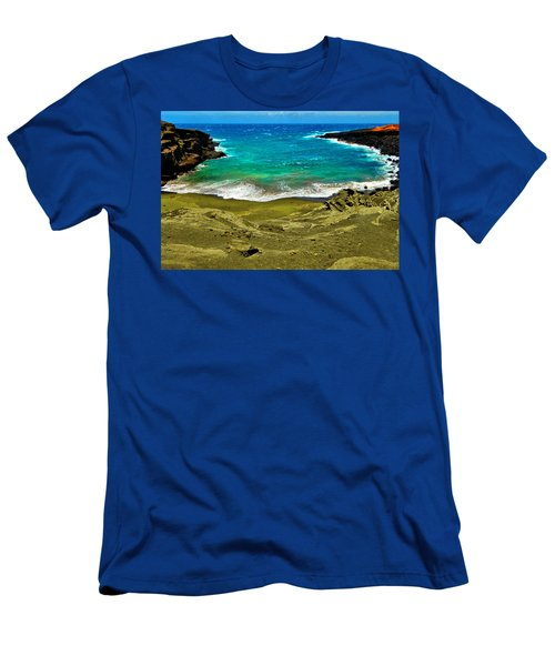 Green Sand Beach Men's T-Shirt (Athletic Fit)