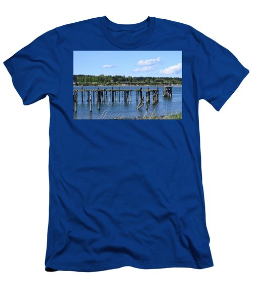 Guemes Island And Old Pier Men's T-Shirt (Athletic Fit)