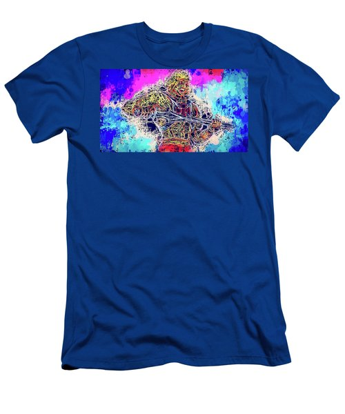 Men's T-Shirt (Athletic Fit) featuring the mixed media He - Man by Al Matra