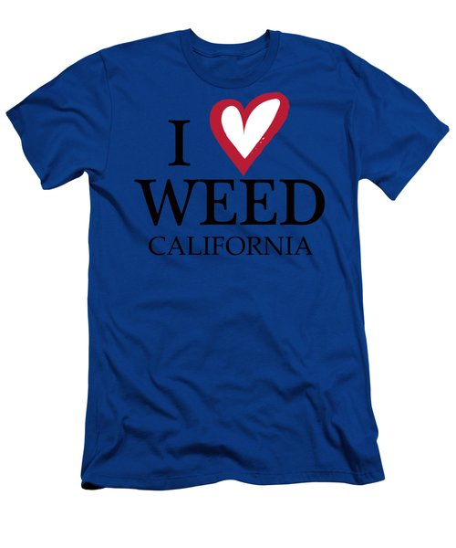 Men's T-Shirt (Athletic Fit) featuring the digital art I Love Weed California by David Millenheft