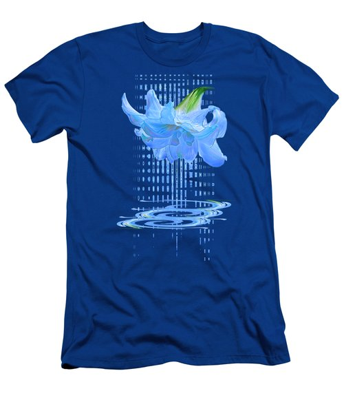 In The Cool Of The Night 3 - Blue Amaryllis Men's T-Shirt (Athletic Fit)