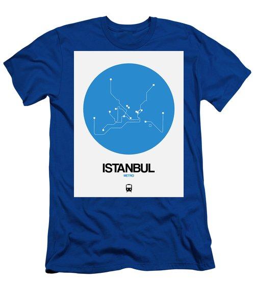 Istanbul Blue Subway Map Men's T-Shirt (Athletic Fit)