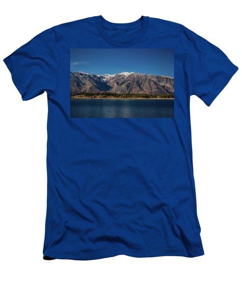 Jackson Lake Wyoming Men's T-Shirt (Athletic Fit)