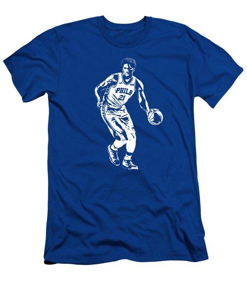 Joel Embiid Philadelphia 76ers T Shirt Apparel Pixel Art 1 Men's T-Shirt (Athletic Fit)