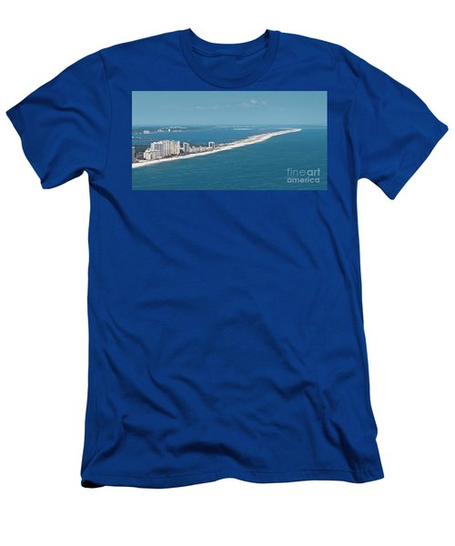 Men's T-Shirt (Athletic Fit) featuring the photograph Johnson Beach by Gulf Coast Aerials -