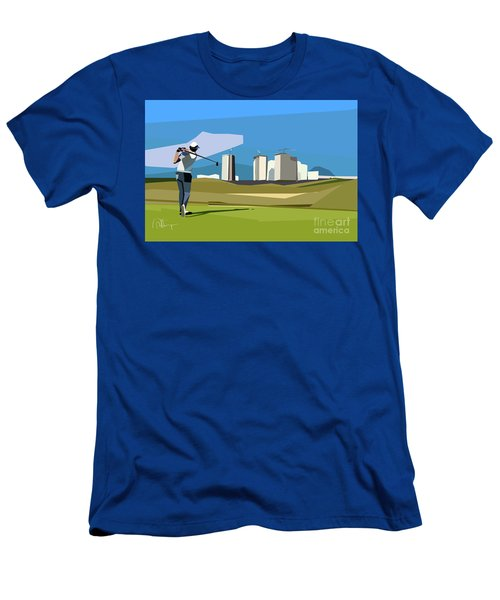 Justin Rose In Rio  Men's T-Shirt (Athletic Fit)