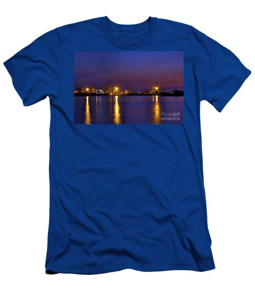 Men's T-Shirt (Athletic Fit) featuring the photograph Kaohsiung Port At Dusk by Yali Shi