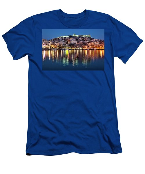 Kavala Town At Night Men's T-Shirt (Athletic Fit)