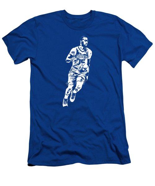 Kemba Walker Charlotte Hornets T Shirt Apparel Pixel Art 1 Men's T-Shirt (Athletic Fit)