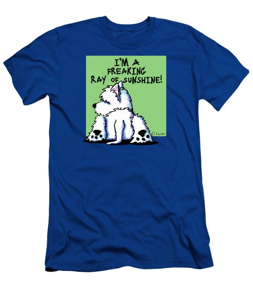 Kiniart Westie Ray Of Sunshine Men's T-Shirt (Athletic Fit)