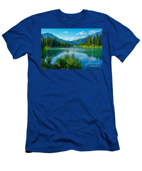 Lake At Banff Indian Trading Post Men's T-Shirt (Athletic Fit)