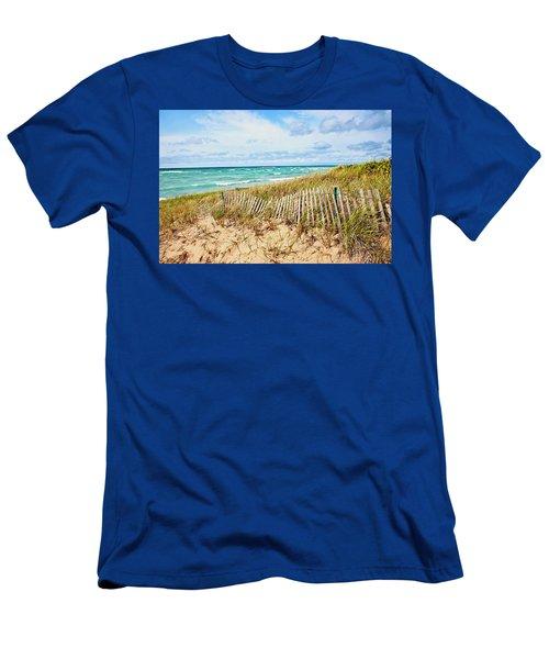 Lake Michigan Beachcombing Men's T-Shirt (Athletic Fit)