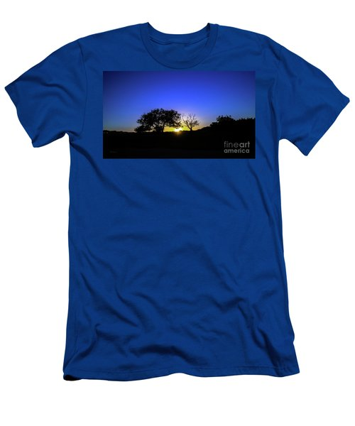Last Light Texas Hill Country Paradise Canyon Sunset 8053a1 Men's T-Shirt (Athletic Fit)