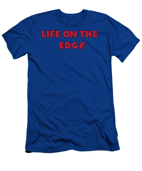 Men's T-Shirt (Athletic Fit) featuring the digital art Life On The Edge by David Millenheft