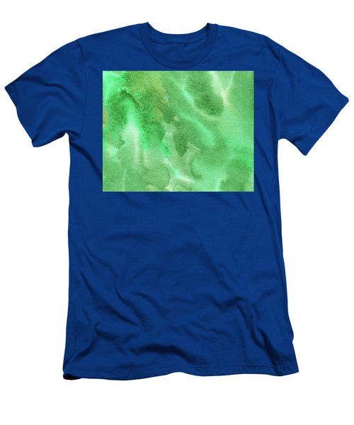 Light Through Green Marble Abstract Watercolor Men's T-Shirt (Athletic Fit)