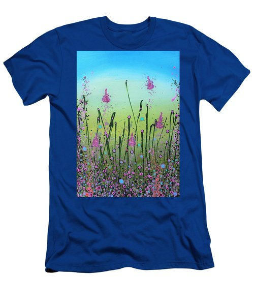 Lilacs And Bluebells Men's T-Shirt (Athletic Fit)