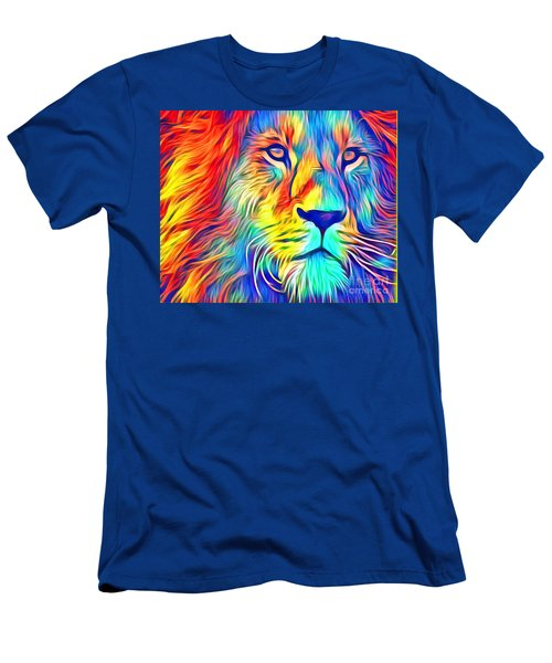 Men's T-Shirt (Athletic Fit) featuring the mixed media Lion Of Judah by Jessica Eli
