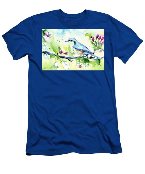 Little Blue Spring Bird Men's T-Shirt (Athletic Fit)