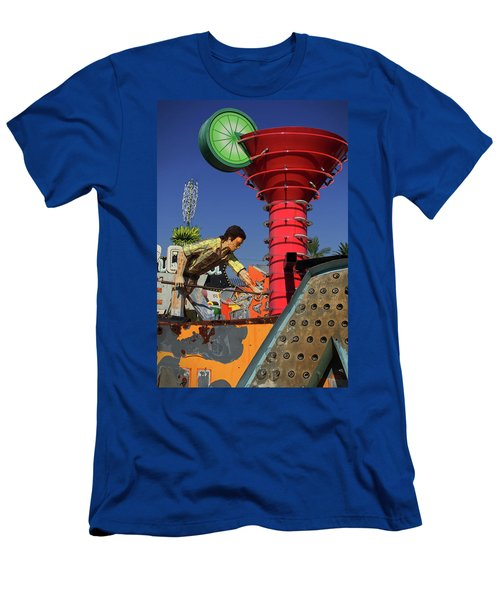 Men's T-Shirt (Athletic Fit) featuring the photograph Mack The Knife by Skip Hunt