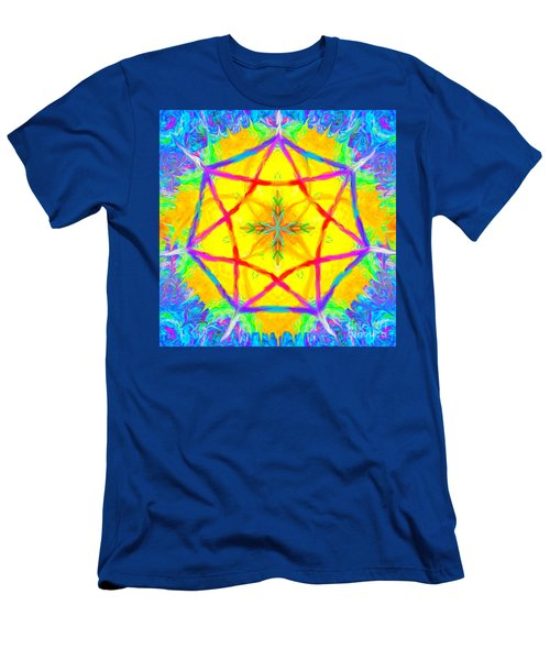 Men's T-Shirt (Athletic Fit) featuring the painting Mandala 12 9 2018 by Hidden Mountain