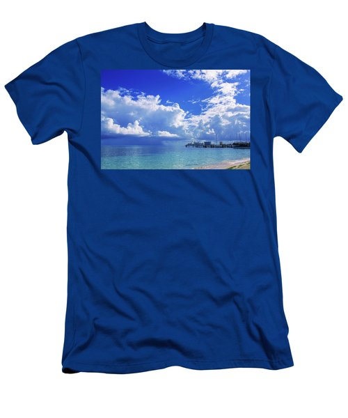 Massive Caribbean Clouds Men's T-Shirt (Athletic Fit)