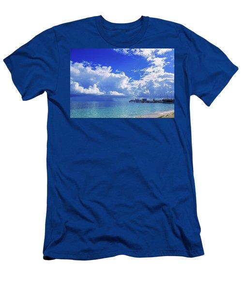 Massive Caribbean Clouds Men's T-Shirt (Athletic Fit)