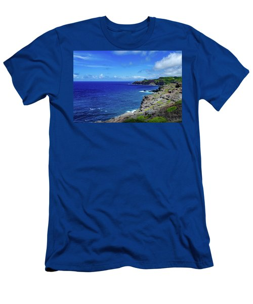 Men's T-Shirt (Athletic Fit) featuring the photograph Maui Coast by Jeff Phillippi