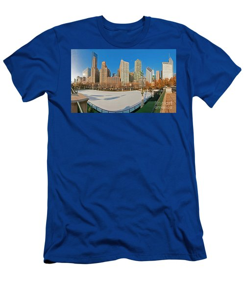 Mccormick Tribune Plaza Ice Rink And Skyline   Men's T-Shirt (Athletic Fit)