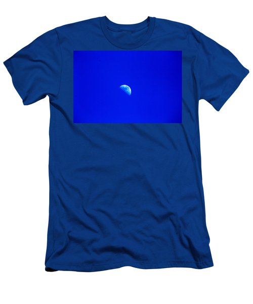 Men's T-Shirt (Athletic Fit) featuring the photograph Moon In A Daytime Sky by W And F Kreations