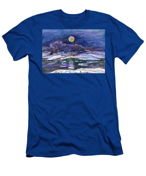 Moon Landscape Men's T-Shirt (Athletic Fit)