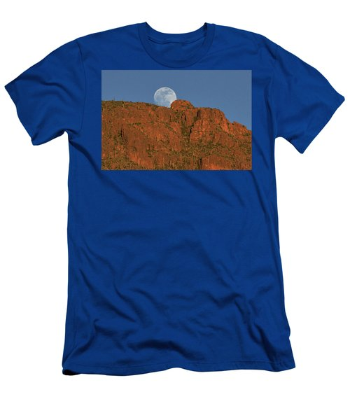 Moonrise Over The Tucson Mountains Men's T-Shirt (Athletic Fit)