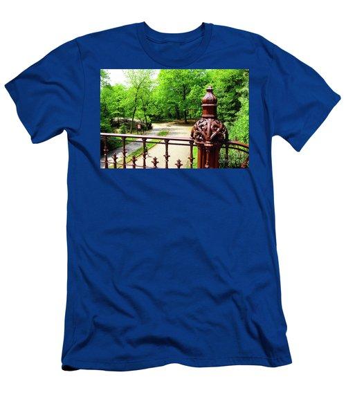 New York's Central Park Winterdale Arch Railing Cast Iron Art Men's T-Shirt (Athletic Fit)