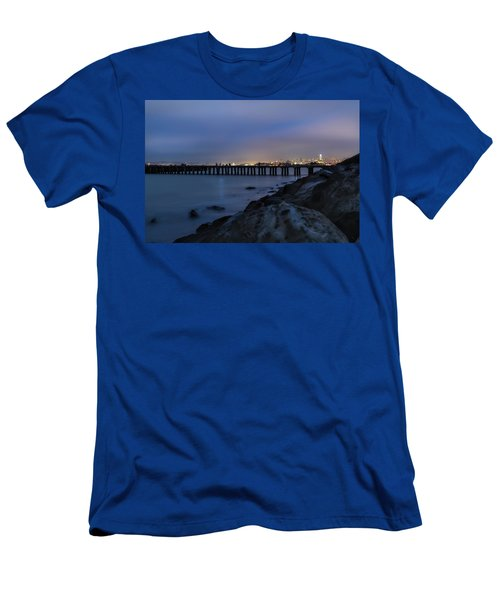 Night Pier- Men's T-Shirt (Athletic Fit)