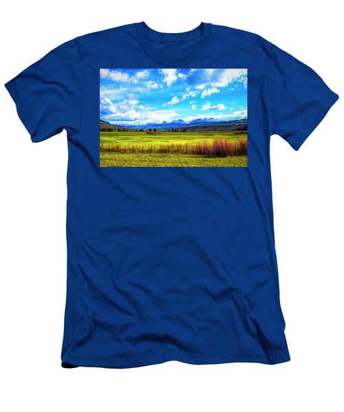 Men's T-Shirt (Athletic Fit) featuring the photograph Northwest Wyoming Afternoon by Mike Braun