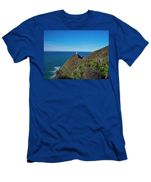 Men's T-Shirt (Athletic Fit) featuring the photograph Nugget Point Lighthouse 3 - New Zealand by Steven Ralser