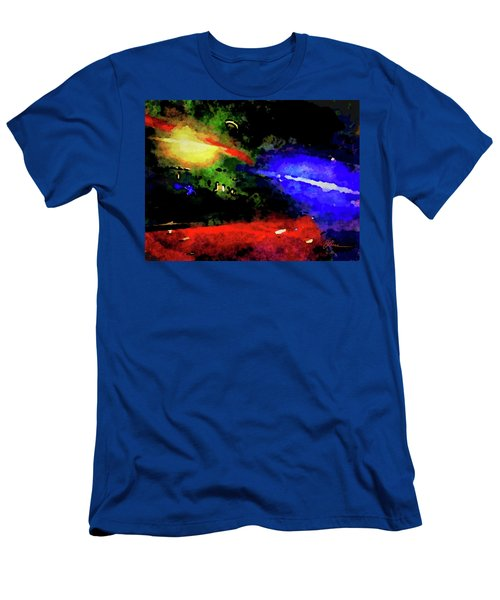 Men's T-Shirt (Athletic Fit) featuring the painting Ny Verve by Joan Reese